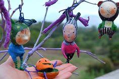 Set 3 gnomes Halloween Pumpkin doll Pokemon doll Figurine