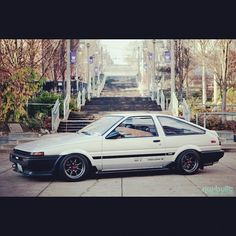Toyota AE86 Corolla. Would happily trade my wagon for one of these.