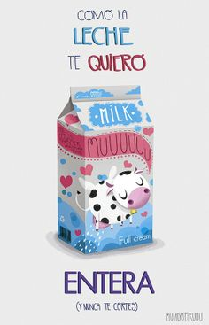 Cute milk box packaging design