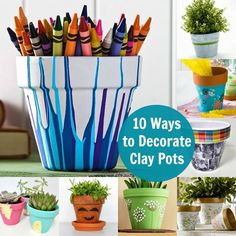 10 Unique Ways to Decorate Clay Pots | eBay
