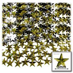 1440pc Acrylic foil Flatback Star shape Rhinestones 3mm Olive Green