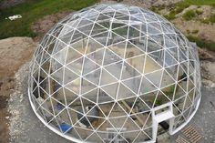 дом с прозрачной крышей