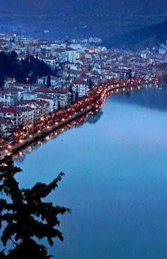 Night lake view - Kastoria, Greece | by Spiros Vathis