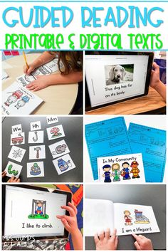 Guided Reading Books available in printable and digital format for K/1. Leveled readers with lesson plans, running records, word work activities, and more! #guidedreading #leveledtext #digitalbooks #guidingreaders
