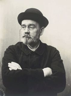 Émile Zola, Self-portrait with hat and folded arms, 1902