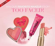 Want to win our best of bridal makeup favs from Too Faced Cosmetics? Just Click to LIKE our Facebook page and leave a comment there.