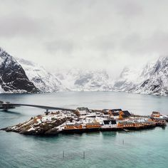 "upknorth: "" Cabin living among Arctic Islands. Reine, Norway shot by @mbeiter 