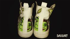 Scarpe dipinte a mano Shrek
