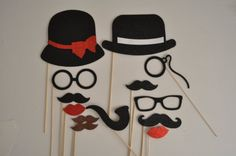 13 Pc Photo Booth Party Props Mustache on a Stick Bowler Hat Ladies Hat Mustaches Glasses so Cute Material Glitter Foamy picwrap http://smile.amazon.com/dp/B00FFEDB3O/ref=cm_sw_r_pi_dp_uhk9ub1BCBH6Q