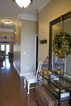 M wants to put crown molding throughout the downstairs living space and the MB. I am in love with this design!