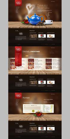 Mini site of tea & coffee shop painel semantico, web design alimentar, design da Website Layout, Web Layout, Layout Design, Layout Site, Design Typo, App Design, Website Design Inspiration, Portfolio Webdesign, Web Responsive