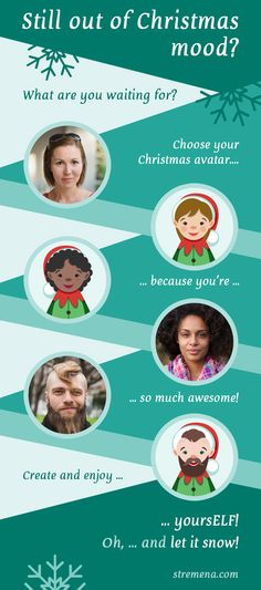You are a #creative one and still out of #christmasmood? Create your own #Christmas #character or surprise someone special. Get this #vector character pack at: https://goo.gl/JkXtHk  Because you're awesome! :) #BeYourself #characterdesign #mascot