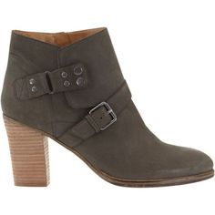 Mint Velvet Leia Block Heeled Ankle Boots, Grey Nubuck ($215) ❤ liked on Polyvore featuring shoes, boots, ankle booties, high heel boots, grey booties, flat booties, low ankle boots and gray boots