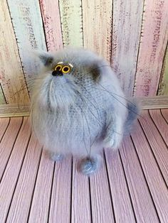 Items similar to Cat stuffed animal, hairy soft sculpture cat doll, the best cat mom gift on Etsy Knitted Hats Kids, Knitted Cat, Crochet Cat Pattern, Cat Crochet, Stuffed Animal Cat, Mohair Yarn, Cat Doll, Fluffy Cat, Soft Sculpture