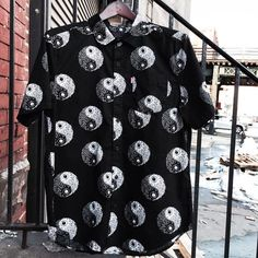 """it's 47 degrees in NYC n we all like """"IT'S SPRING BABY"""" // catch the vibes n chill the fuck out // Balanced Imperial Short Sleeve Button Up МИШКА Spring 2015: For anyone. For everyone. #WearYourWeird @ MISHKANYC.COM #WhereYoureWeird // #spring15 #mishkaspring15 #mishka #mishkanyc #mnwka #МИШКА #МИШКА4LIFE #KEEPWATCHORDIE #rp @mishka_350bdwy"""