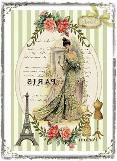Vintage ad - green background [in reverse and ready for printing] Vintage Printable, Vintage Labels, Vintage Posters, Decoupage Vintage, Decoupage Paper, Collage Vintage, Vintage Paris, Shabby Vintage, Shabby Chic