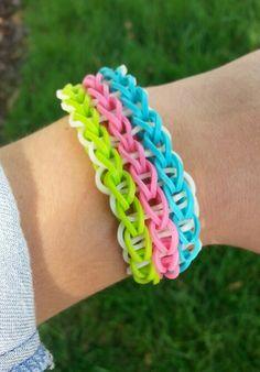 Triple Single Rainbow Loom Bracelet