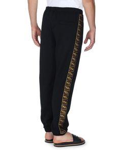 Fendi Logo-Stripe Sweatpants | Neiman Marcus