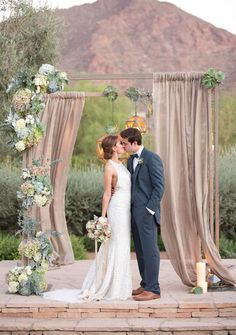 It's no secret we love succulents so this arch was a shoo in! Asymmetrical and geometric rustic goodness all in one! See the wedding it belongs to here, photographed by Amy and Jordan Photography.