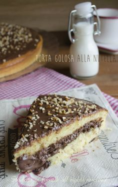 torta alla nutella golosa: Tasty cake with Nutella