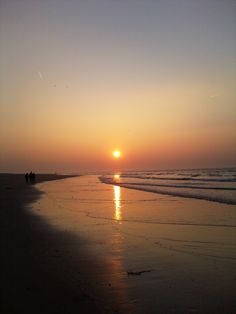 zonsondergang noordzeestrand