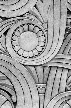 Art Deco architectural detail from the Chicago Motor Club building