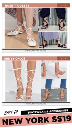 #nyfw #2018 #ss19 #bestof #womens #footwear #shoes #handbags #trends #fashion #accessories #fashiondirections #seebychloe #rosettagetty Nyfw 2018, Rosetta Getty, Footwear Shoes, Prabal Gurung, Ulla Johnson, See By Chloe, Rebecca Taylor, Diane Von Furstenberg, Designer Shoes