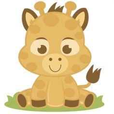 Baby Giraffe SVG cutting files giraffe svg cut file baby giraffe svg file for scrapbooking Yellow Animals, Baby Animals, Cute Animals, Wild Animals, Baby Boy Scrapbook, Cartoon Kids, Cute Cartoon, Clip Art, Cute Clipart