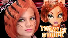 Toralei Stripe Monster High Doll Costume Makeup Tutorial for Halloween or Cosplay