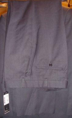 Bagir Performance Tailoring Black Trouser Pants Size 48 / 34 New Tag Wool Blend #Bagir #DressTrousersPants