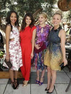 Kaley Cuoco (far right) in McGINN's Marlie Printed Dress