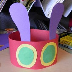 The Very Hungry Caterpillar Hat The Very Hungry Caterpillar Activities, Hungry Caterpillar Craft, Caterpillar Costume, Bug Crafts, Preschool Activities, Preschool Learning, Toddler Crafts, Toddler Activities, Early Education