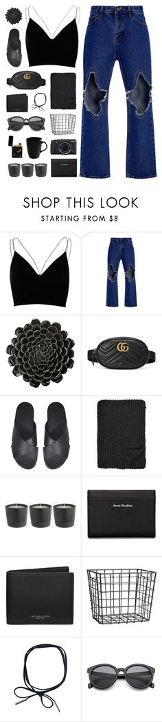 """Ansleigh"" by nauditaolivia ❤ liked on Polyvore featuring River Island, Kimhēkim, DAY Birger et Mikkelsen, Gucci, Alicia Adams, Fujifilm, Acne Studios, Michael Kors, H&M and 10 Strawberry Street"