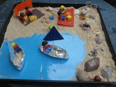 47 Incredibly Fun Outdoor Activities for Kids - Beach Small World #hobbycraft