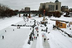World's Longest Ice Skating Trail: #Assiniboine Trail – #Winnipeg, Canada. Photo by Dan McKay