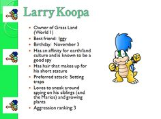 Profile: Larry Koopa
