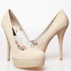 BNIB Embossed Sugar Skull Maneater platforms BNIB. One of a kind!  Beautiful nude heels. Embellished with embossed sugar skull imprints all over. These are beautiful. Comes with extra heel plugs. Iron Fist Shoes Platforms