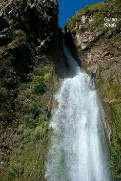 Beautiful waterfall in Nepal