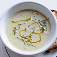 Chilled Fennel-Grapefruit Velouté with Lemon Olive Oil | Food & Wine