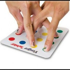 INFMETRY:: Finger Twister Game - this is a fun way to develop finger coordination and finger digit isolated movements. Could also be used as a warm up to hand writing!