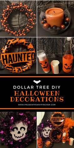 I was compensated for this post. This post also contains affiliate links and I will be compensated if you make a purchase after clicking on my links. Give your home a spooky makeover with these cheap and easy Dollar Tree Halloween decor DIY ideas. Spooky Halloween, Dollar Tree Halloween Decor, Dollar Store Halloween, Diy Halloween Decorations, Holidays Halloween, Halloween Treats, Vintage Halloween, Halloween Party, Halloween Foods