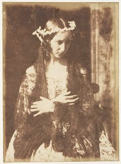 Miss Kemp as Ophelia 1843-47 by Hill and Adamson