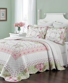 Martha Stewart Collection Emmeline Queen Bedspread, Only at Macy's