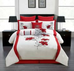 13 Piece Queen Almora Cotton Bed in a Bag Set Tropical Bedroom Decor, Tropical Bedrooms, Bed Cushions, Bed In A Bag, Cotton Bedding, Comforter Sets, Bed Spreads, Home Kitchens, Comforters