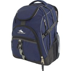 The High Sierra Access laptop backpack is the perfect blend of functionality and durability. Its VAPEL mesh AIRFLOW padded straps and a sternum strap let you travel comfortably. You can enjoy music on the go, as this travel laptop backpack features a CD pocket with a headphone port. This water resistant laptop backpack features multiple compartments and front pockets to help you store your belongings neatly. It has an exterior daisy chain webbing to attach accessories for a personalized…