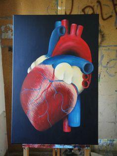 Heart Shaped box, Acrílico em tela, 2011