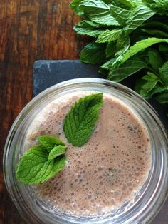 Dairy-Free Mint Chocolate Milk....awesome healthy alternative when needing that chocolate fix!