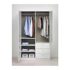 MUSKEN Lemari pakaian 2 pintu+3 laci  - IKEA