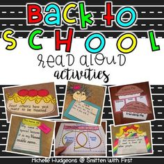 Back to School Read Alouds (5 Reading/Writing craftivities)