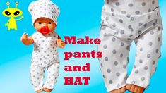 How to make Clothes Baby Doll DIY Trousers PANTS and Hat Very easy!